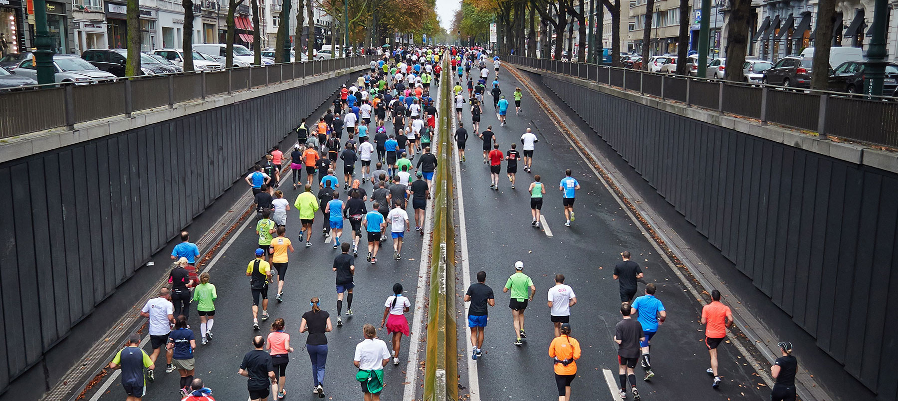 Sport, Exercise and Health image of marathon runners