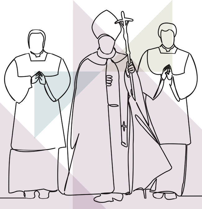 illustration of three clergymen