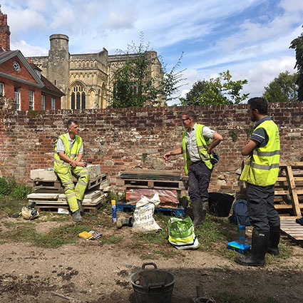 Archaeological investigations in Winchester with three archaeologists