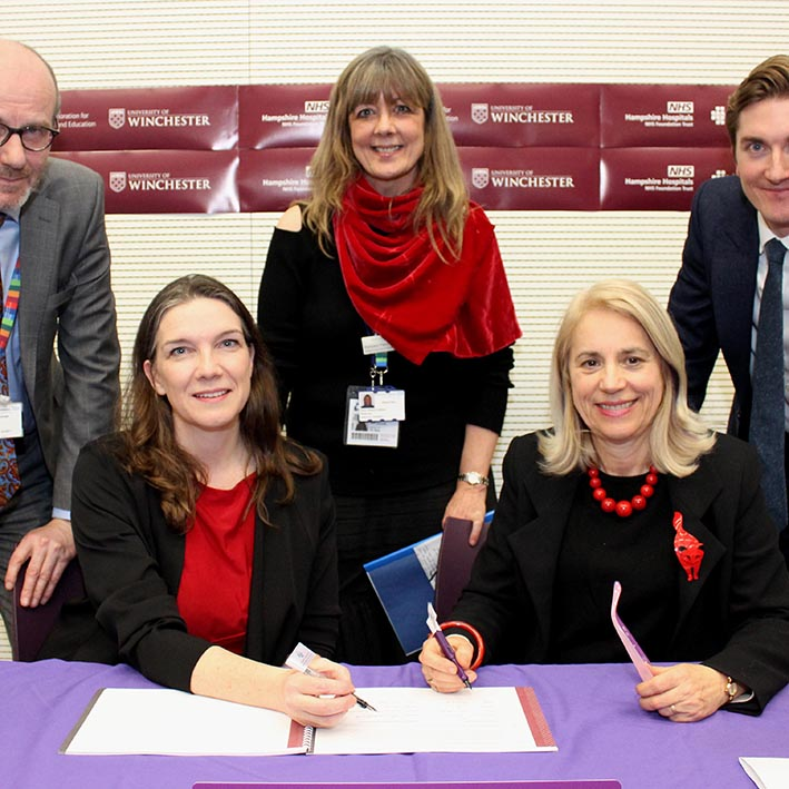 Hampshire Hospitals NHS Foundation Trust and University of Winchester join forces to improve patient care and treatments
