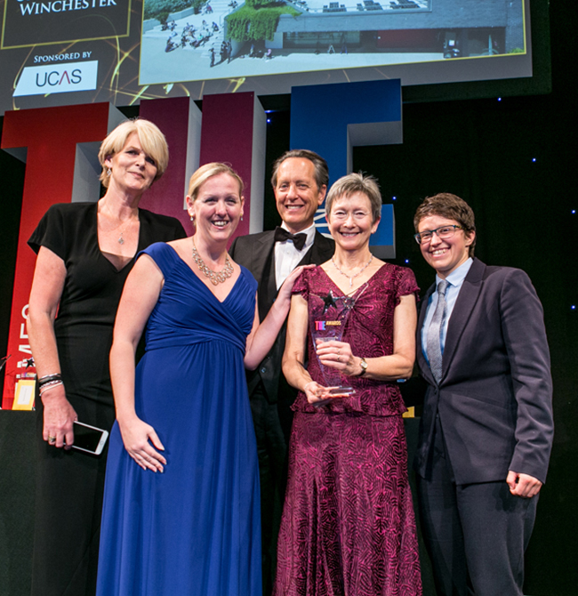 University of Winchester scoops Times Higher Education Award for groundbreaking work with young carers