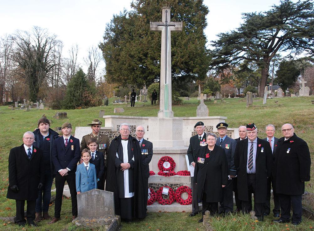 West Hill cemetery Remembrance service