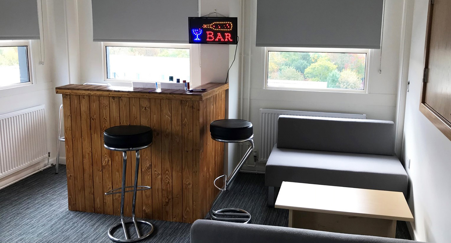 University of Winchester Psychology intoxication research: image of the 'Bar Lab'