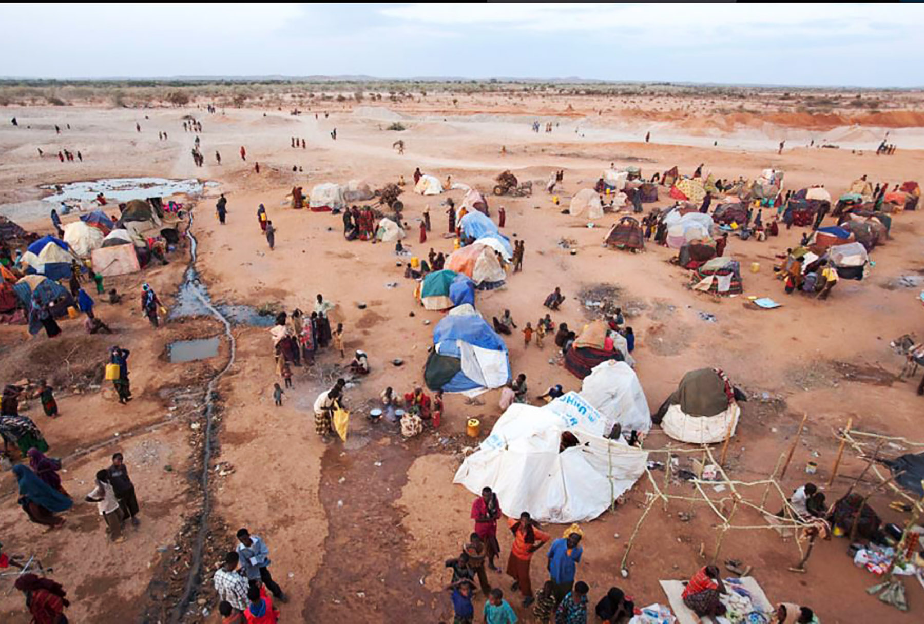 Compassion is a major value at Winchester: image of a refugee camp to illustrate our Forced Migration Network