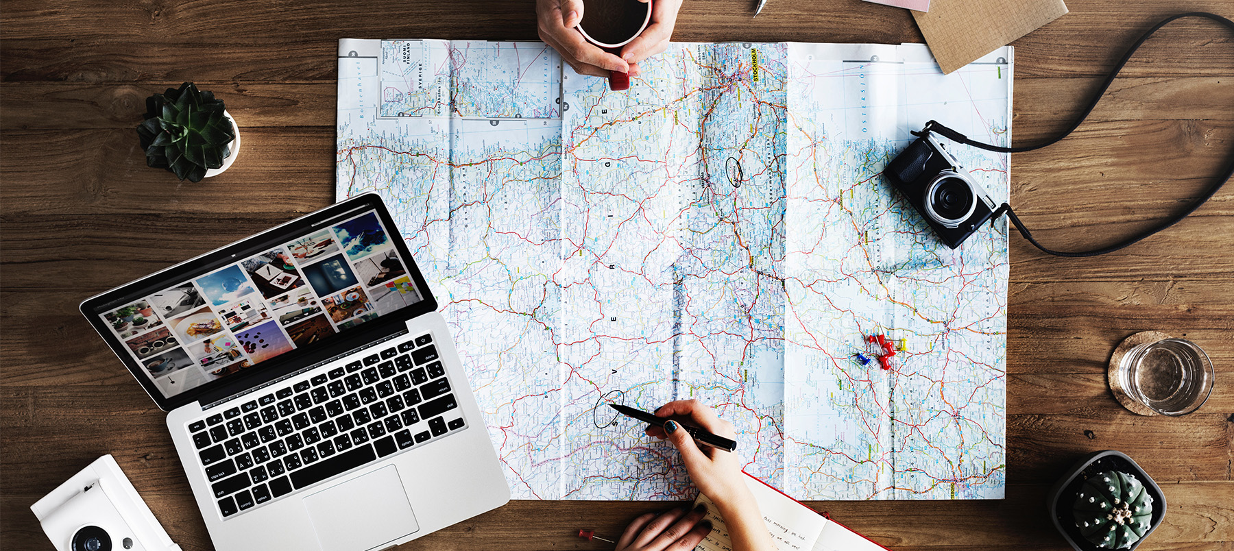 Planning travel on a map