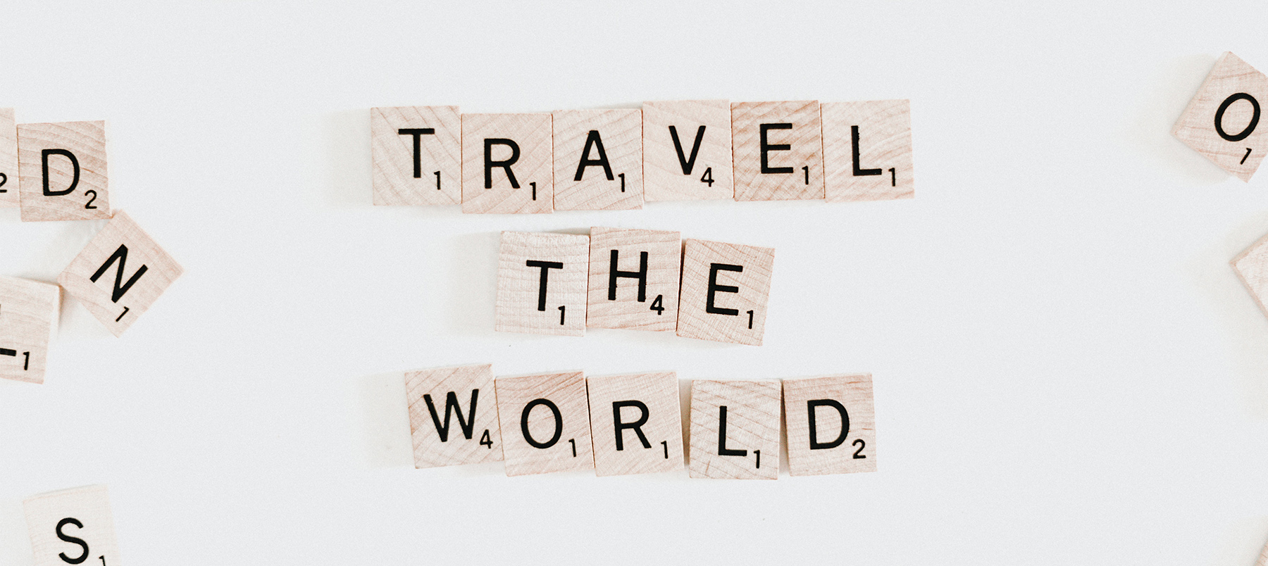 Scrabble letters 'Travel the world'