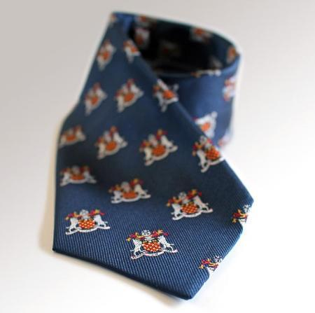 University of Winchester navy tie with crest